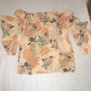 Peach Love Size Small off the shoulder Top